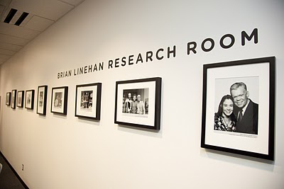 Photo showing the Brian Linehan Research Room at TIFF Bell Lightbox